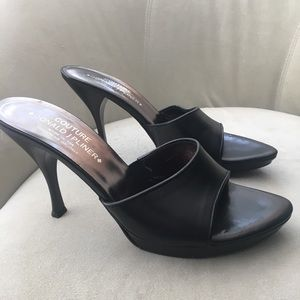 Donald J. Pliner Couture Black Leather Heels (9)